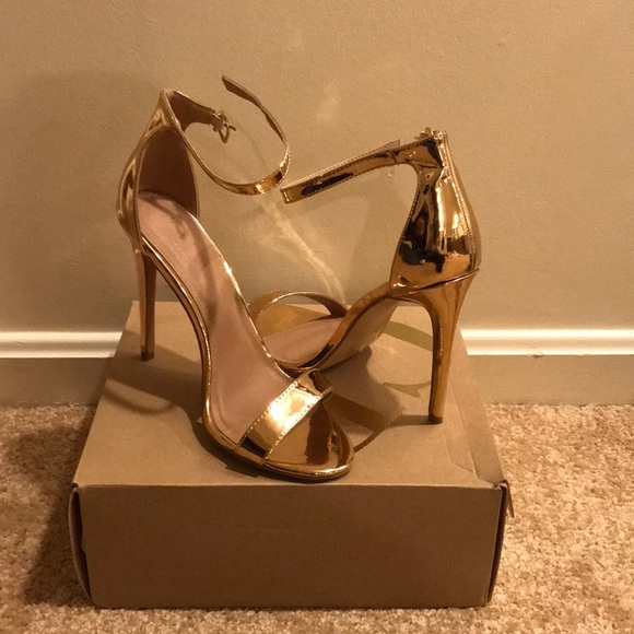 8b8b140feec Charlotte Russe Shoes - Charlotte Russe Rose Gold Rebekah Style Heels